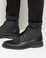 BOSS ORANGE By Hugo Boss Cultroot Leather Lace Up Boots