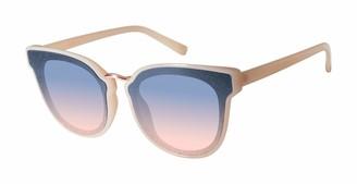 Jessica Simpson J5865 Round Retro Sunglasses with 100% UV Protection 55 mm