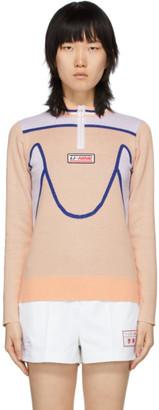 Li Ning Li-Ning Pink Knit Half-Zip Sweater