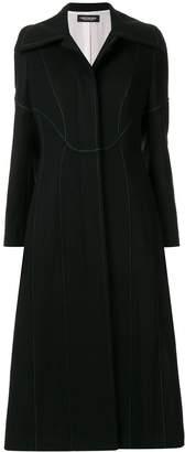 Christian Dada wide-lapel long coat