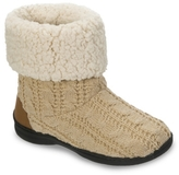 Dearfoams Cable Knit Bootie Slipper