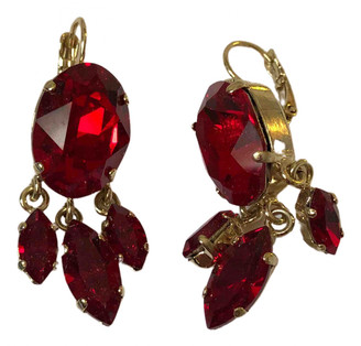 Philippe Ferrandis Red Metal Earrings