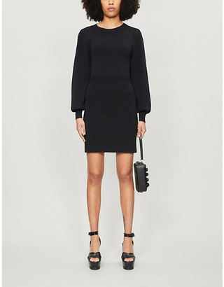 The Kooples Balloon-sleeve stretch-jersey mini dress