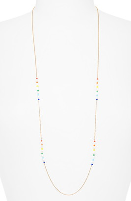 Argentovivo Long Pearl & Bead Chain Necklace