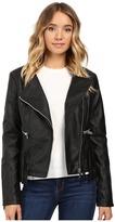 Brigitte Bailey Lowri Faux Leather Jacket with Fringe