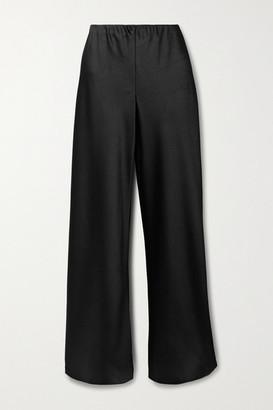 Vince Crinkled-satin Straight-leg Pants - Black