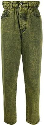 Miu Miu Acid-Wash Tapered Jeans