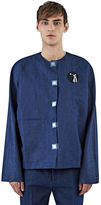 J.w. Anderson Men's Denim Tool Patch Shirt In Indigo