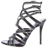 Brian Atwood Cage Leather Sandals