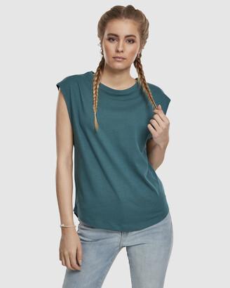 Urban Classics Women's Blue Basic T-Shirts - UC Ladies Basic Shaped Tee - Size One Size, XS at The Iconic