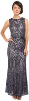Vince Camuto Geometric Sequins Gown