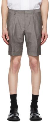 Ermenegildo Zegna Grey Linen Summer Shorts