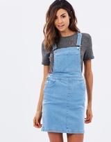 Miss Selfridge Denim Mini Pinafore Dress