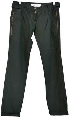 Sessun Navy Cotton Trousers for Women