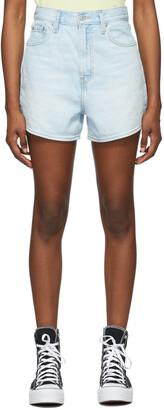 Levi's Blue Denim Light High Loose Shorts