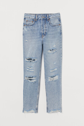 H&M Slim Mom Jeans Trashed