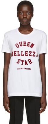 Dolce & Gabbana White Queen Bellezza T-Shirt