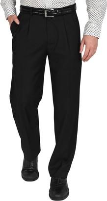 "Dockers Single Pleat Performance Stretch Straight Fit Dress Pants - 30-34"" Inseam"