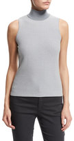 Armani Collezioni Sleeveless Micro-Square Sweater, Gray/Multi