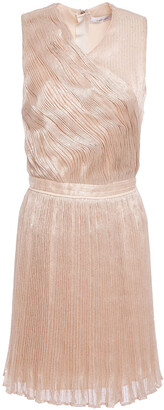 Carven Cutout Sequined Plisse Tulle Mini Dress