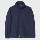 Paul Smith Men's Navy Lightweight Cotton-Blend Shower-Proof Field Jacket