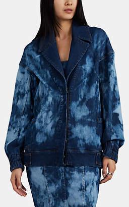 MANNING CARTELL Women's Tie-Dyed Denim Bomber Jacket - Blue