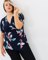Evans Hourglass Fit Floral Top