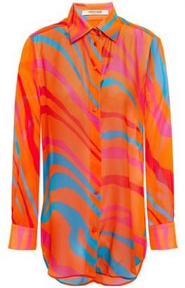 Roberto Cavalli Printed Silk-chiffon Shirt