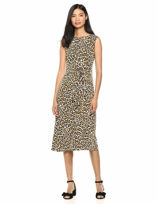 Chaus Women's S/L Wild Cat Tie Dress