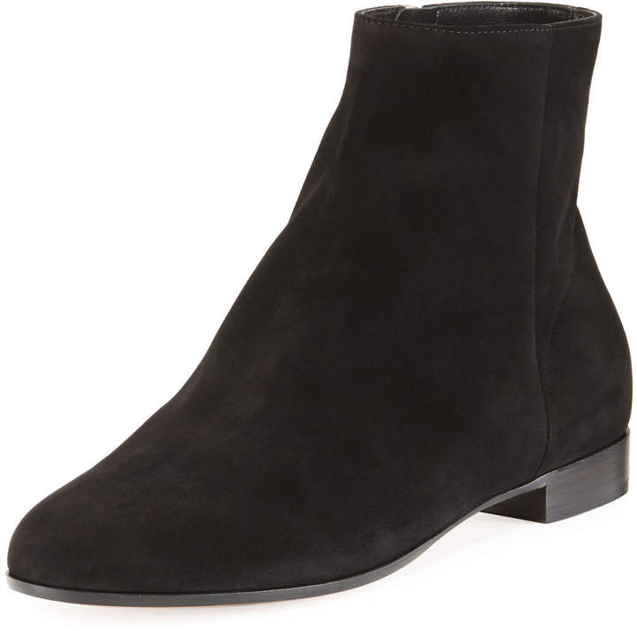 Gianvito Rossi Flat Suede Ankle Boot