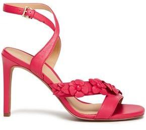 MICHAEL Michael Kors Tricia Cutout Floral-appliqued Leather Sandals