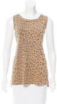 Current/Elliott Sleeveless Leopard Print Top