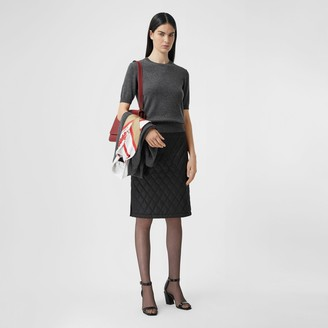 Burberry Short-sleeve Cashmere Top