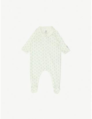 Petit Bateau Graphic-print organic cotton sleepsuit 0-9 months