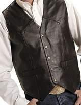 Roper Western Vest Mens Leather Snap 02-075-0520-0501 BR