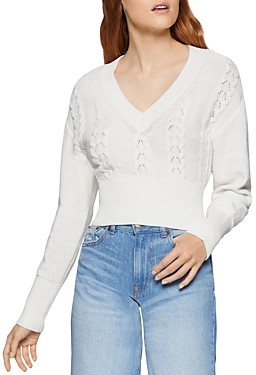 BCBGeneration Pointelle Cropped Sweater