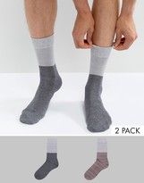 Selected Homme 2 Pack Sock In Colour Block