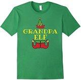 Kids Christmas Family Shirt Set Grandpa Elf T-Shirt Matching 4