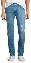 Hudson Sartor Raw Skinny-Leg Denim Jeans, Blue