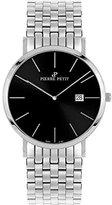 Pierre Petit Men's P-787E Serie Nizza Black Dial Stainless-Steel Date Watch