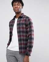 Selected Plus Check Shirt Jacket with Zip Front