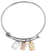 "Disney Women's Stainless ""If you can dream it you can do it"" Bracelet - Silver/Gold (8"")"