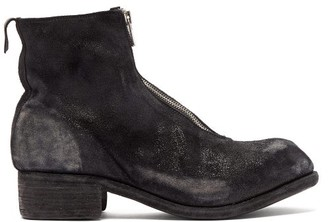 Guidi Zip-fastening Grained-leather Boots - Black