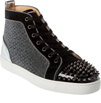 Christian Louboutin Lou Spikes Orlato Leather Sneaker