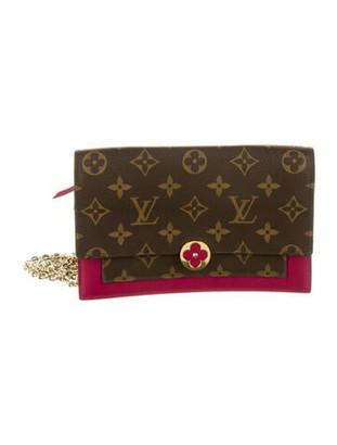 Louis Vuitton Monogram Flore Chain Wallet Brown