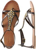 Women's Embellished Leather Sandals
