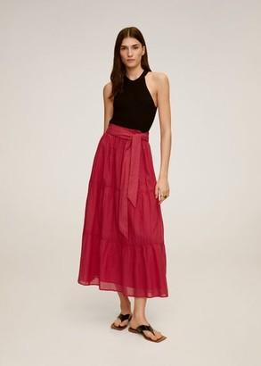 MANGO Bow midi skirt