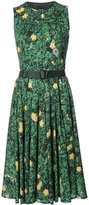 Akris floral print flared dress - women - Cotton - 4