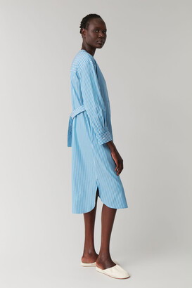 Cos Striped Shirt Dress With Belt