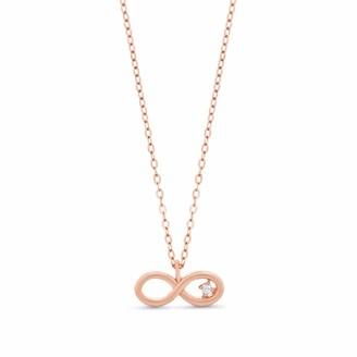 Infinity Necklace 14k Rose Gold